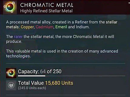 no man's sky chromatic metal crafting next