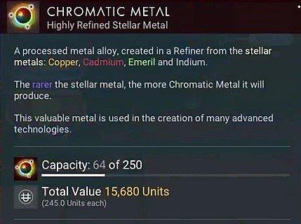 no man's sky chromatic metal crafting next
