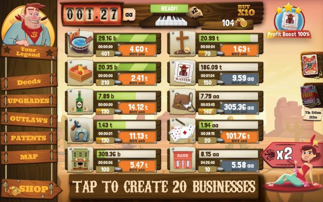 Wild West Saga: Idle Tycoon Clicker