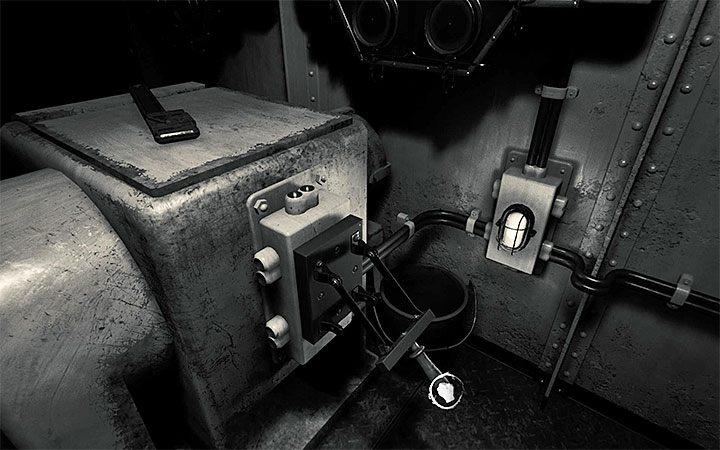 Теперь вы можете потянуть рычаг, расположенный рядом с лампой - Riddiness с током в машинном отделении Решение загадки в Layers of Fear 2 - Layers of Fear 2 - Руководство по игре