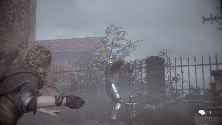 В конце вам нужно только стрелять в открытую голову противника - Как победить рыцаря в конце главы 2 в «Чумной истории»? - Чумная невинность - Руководство по игре