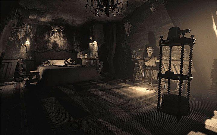 Спальня - вторая в кухонной комнате дома, в котором побывали в третьем акте игры - Головоломка в спальне. Решение загадки в Layers of Fear 2 - Layers of Fear 2 - Руководство по игре