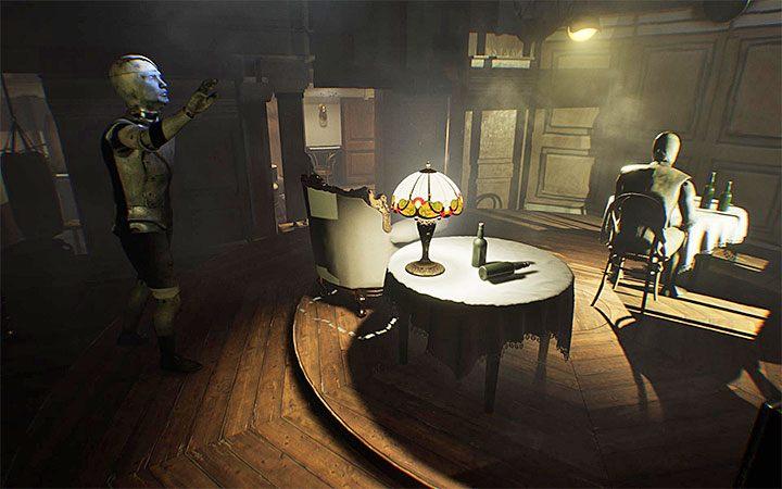 Нажатие кнопки оставляет стул - Загадка с подвесным креслом   Решение загадки в Layers of Fear 2 - Layers of Fear 2 - Руководство по игре