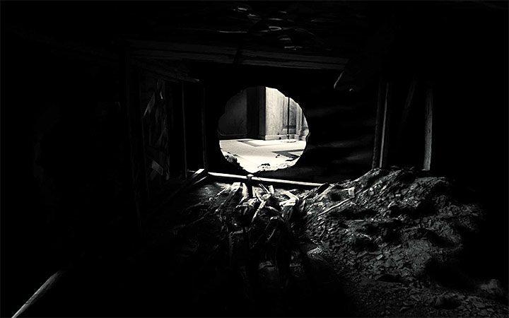 Rozwiązywaniem zagadki z sejfem zajmiesz się niedługo po przeciśnięciu się przez tunel - Zagadka z sejfem   Rozwiązanie zagadki w Layers of Fear 2 - Layers of Fear 2 - poradnik do gry