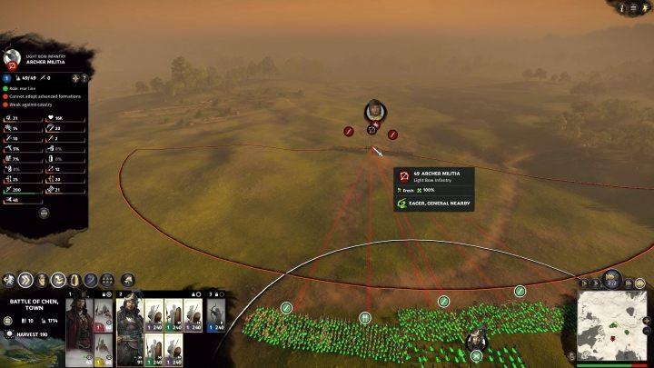 Nawet początkowe starcia wyglądają epicko z poziomem armii ustawionym na Ekstremalny. - Wielkość jednostek w Total War Three Kingdoms - Total War Three Kingdoms - poradnik do gry