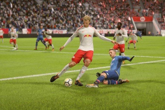 Screenshot of Bundesliga players in FIFA 19.