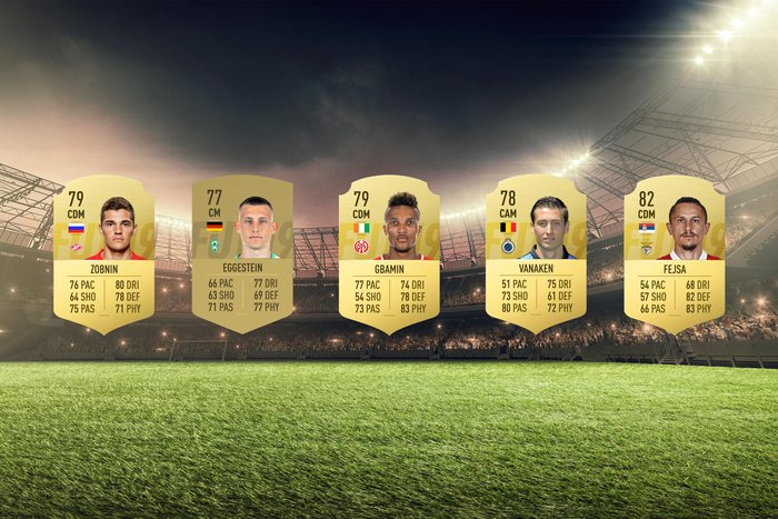 Image of the some of the best bargain central midfielders in FIFA 19.