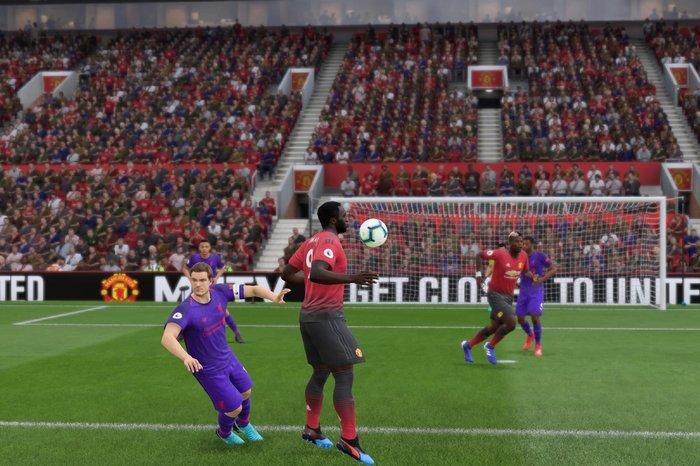 Screenshot of a goalscoring opportunity