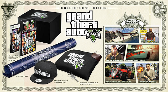 Collectors Edition of GTA V can take pride in the richest contents - Game editions - Basics - Grand Theft Auto V Game Guide
