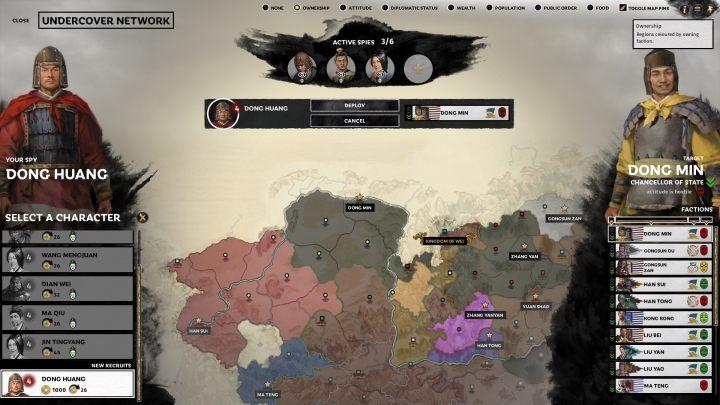 Появление шпионского экрана. - Шпионаж в Total War Three Kingdoms - Руководство по игре и прохождение игры