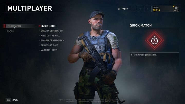 The PvP mode selection screen. - Player vs Player in World War Z - general information, available modes - Player vs Player mode - World War Z Guide