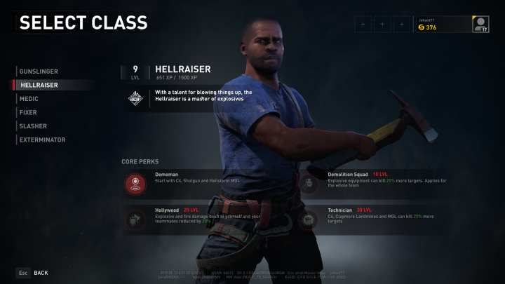 The Hellraiser is an explosive specialist, effective against clusters of foes. - Hellraiser | Character classes in World War Z - Character classes - World War Z Guide
