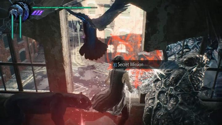 Thanks to this, you will be able to eliminate the vegetation, enter the building and launch the secret mission 03 - Secret mission 03 walkthrough for Devil May Cry 5 - Secret missions - Devil May Cry 5 Guide