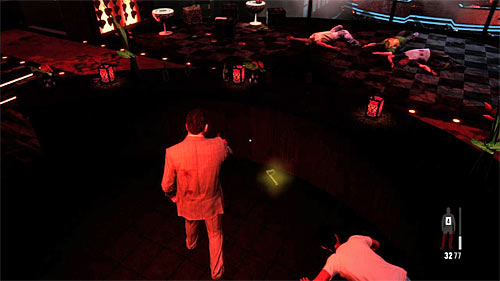 SECRET 4 [Golden Gun - Mini-30 Rifle 1/3]: In the VIP section, behind the bar - Clues and Golden Guns - Chapter II - Collectibles - Max Payne 3 - Game Guide and Walkthrough