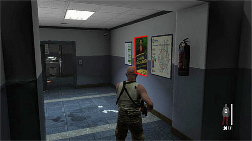 SECRET 7 [Clue 2/2 - Ad Campaign Poster]: On the wall, on the ground floor of building by the stairs - Clues and Golden Guns - Chapter X - Collectibles - Max Payne 3 - Game Guide and Walkthrough