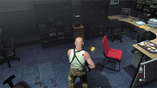 SECRET 8 [Golden Gun - FAL 3/3]: In small office room on the ground floor of building, by the switch - Clues and Golden Guns - Chapter X - Collectibles - Max Payne 3 - Game Guide and Walkthrough