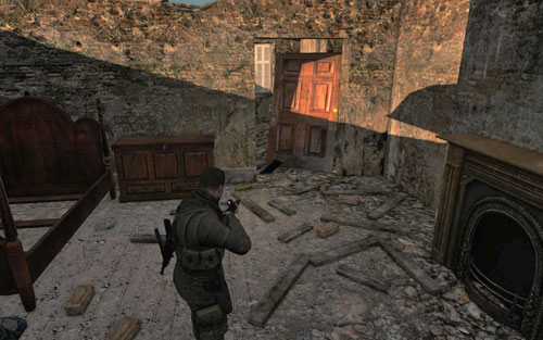 In the almost buried ruins by the command post - Mission 7   Wine Bottles and Gold Bars - Wine Bottles and Gold Bars - Sniper Elite V2 Game Guide & Walkthrough