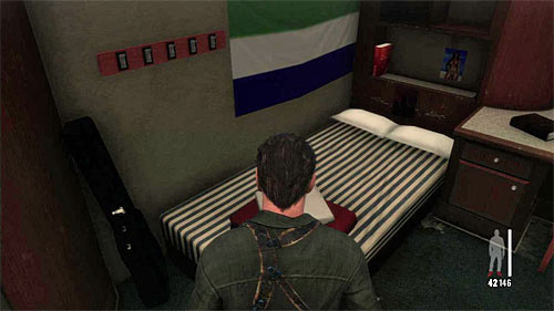 SECRET 1 [Clue 1/8 - Passos Bed]: In the Rauls cabin, nearby the beginning place - Clues and Golden Guns - Chapter XI - Collectibles - Max Payne 3 - Game Guide and Walkthrough