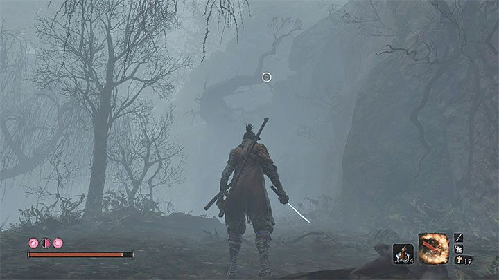 Find the tree presented in the picture above - it is near the cabin - Mist Noble   Sekiro Shadows Die Twice Boss Fight - Bosses - Sekiro Guide and Walkthrough