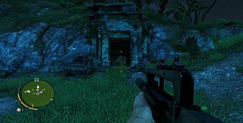 В северной части есть место, где склон наклонен под углом, позволяющим подняться выше - Северный остров - Юго-западная часть - Объекты культа - Far Cry 3 - Руководство по игре и прохождение игры