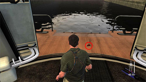 SECRET 4 [Clue 3/8 - Blood Trail]: At the back of yacht, just after getting out from engine room - Clues and Golden Guns - Chapter XI - Collectibles - Max Payne 3 - Game Guide and Walkthrough