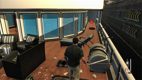 SECRET 5 [Golden Gun - Super Sport 2/3]: On one of the lower decks of yacht - Clues and Golden Guns - Chapter XI - Collectibles - Max Payne 3 - Game Guide and Walkthrough