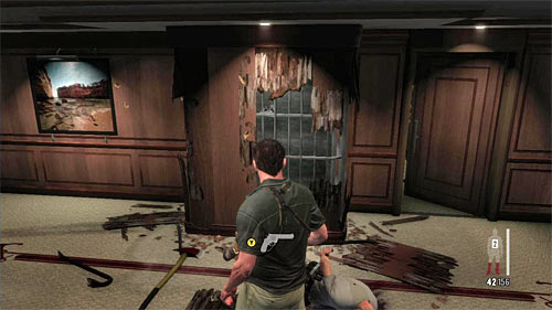 SECRET 7 [Clue 5/8 - Pried Wall]: In room where enemies tried to break through the wall - Clues and Golden Guns - Chapter XI - Collectibles - Max Payne 3 - Game Guide and Walkthrough