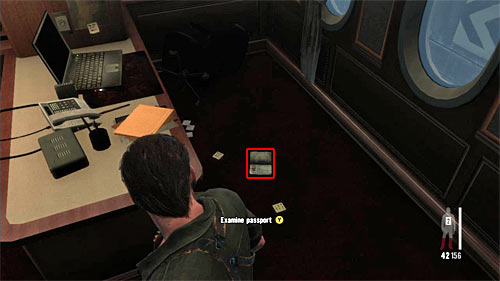 SECRET 8 [Clue 6/8 - Daphnes Passport]: On the floor in the first searched side cabins - Clues and Golden Guns - Chapter XI - Collectibles - Max Payne 3 - Game Guide and Walkthrough