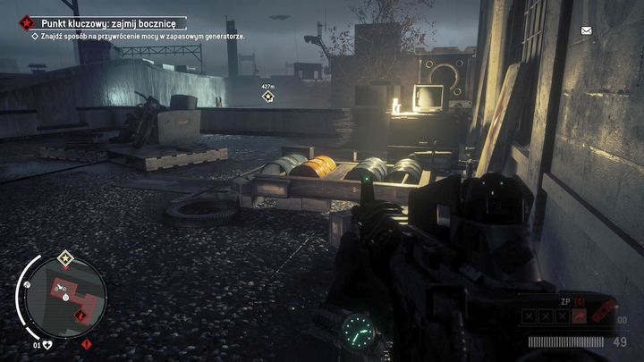 After a quick elimination of the enemies, get on the first floor of the building, and try to start the generator - Elmtree - Red zone | Key Points - Key Points - Homefront: The Revolution Game Guide & Walkthrough