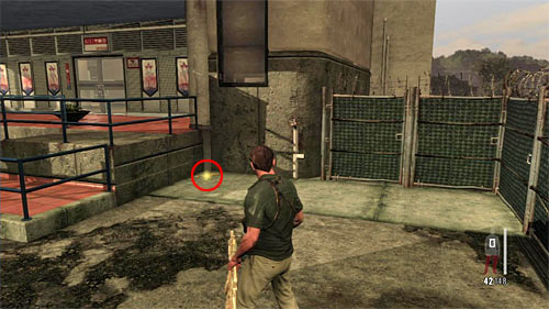 SECRET 12 [Golden Gun - Super Sport 3/3]: You find it just after the ride on a line, on the right from entrance to the new building - Clues and Golden Guns - Chapter XI - Collectibles - Max Payne 3 - Game Guide and Walkthrough