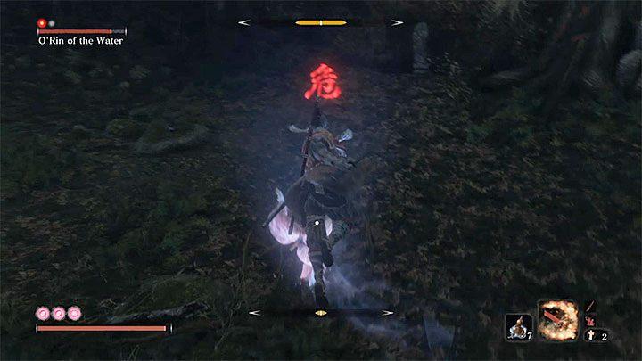 Ждите атаки, отмеченной красным символом - ORin of the Water   Sekiro Shadows Die Twice Boss Fight - Боссы - Руководство по Sekiro и прохождение игры