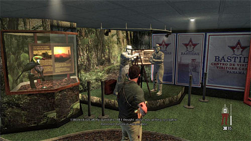 SECRET 14 [Clue 8/8 - Visitor Center Display]: In the second searched room with exhibits - Clues and Golden Guns - Chapter XI - Collectibles - Max Payne 3 - Game Guide and Walkthrough