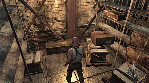 SECRET 2 [Clue 2/6 - Ammo Crate]: In the side stock, on the way to elevator - Clues and Golden Guns - Chapter XII - Collectibles - Max Payne 3 - Game Guide and Walkthrough
