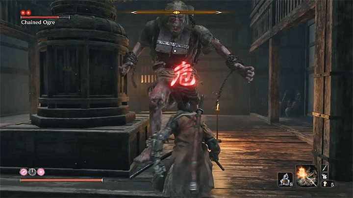 Ogre that you fight has the same attack like the boss encountered in Ashina Outskirts - Chained Ogre from Ashina Castle   Sekiro Shadows Die Twice Boss Fight - Bosses - Sekiro Guide and Walkthrough