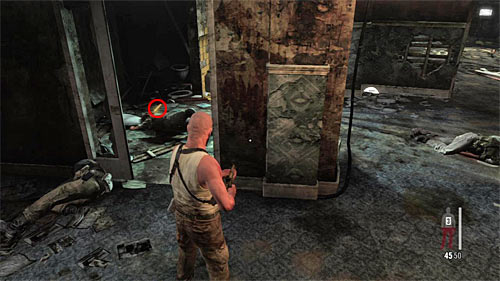 SECRET 3 [Golden Gun - RPG 1/3]: In the toilet in area where you fight enemies - Clues and Golden Guns - Chapter XII - Collectibles - Max Payne 3 - Game Guide and Walkthrough