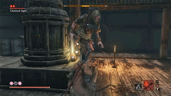There is a very simple way to win this fight - Chained Ogre from Ashina Castle   Sekiro Shadows Die Twice Boss Fight - Bosses - Sekiro Guide and Walkthrough