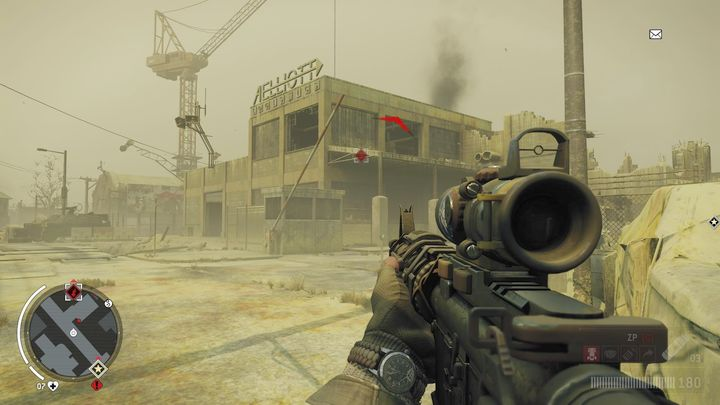 You will have to search the building in order to find documents and explosives - Lombard - Red zone | Key Points - Key Points - Homefront: The Revolution Game Guide & Walkthrough