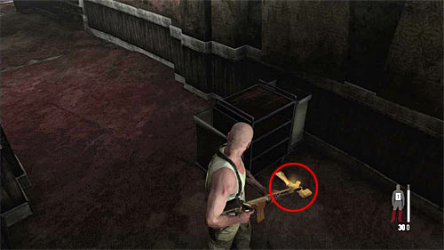 SECRET 4 [Golden Gun - FMP G3S Rifle 1/3]: In the left corridor monitored by the person with LMG Rifle - Clues and Golden Guns - Chapter XII - Collectibles - Max Payne 3 - Game Guide and Walkthrough