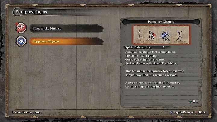 Before entering the room with the boss set the ability of the Puppeteer Ninjutsu as active - Lonely Shadow Vilehand   Sekiro Shadows Die Twice Boss Fight - Bosses - Sekiro Guide and Walkthrough