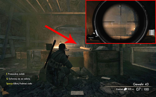 After reaching the trenches, if you follow the shortcuts and get rid of the officer, you can find the bottle inside the next room, on a crate [#2] - Mission 9   Wine Bottles and Gold Bars - Wine Bottles and Gold Bars - Sniper Elite V2 Game Guide & Walkthrough