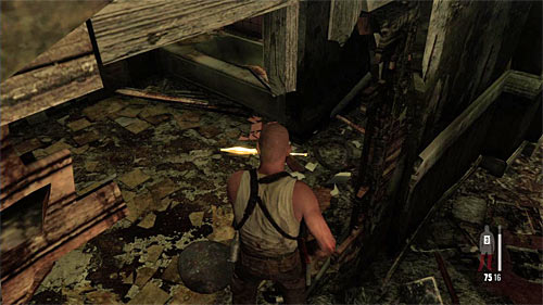 SECRET 7 [Golden Gun - RPG 2/3]: In the destroyed room at one of higher floors of the hotel - Clues and Golden Guns - Chapter XII - Collectibles - Max Payne 3 - Game Guide and Walkthrough