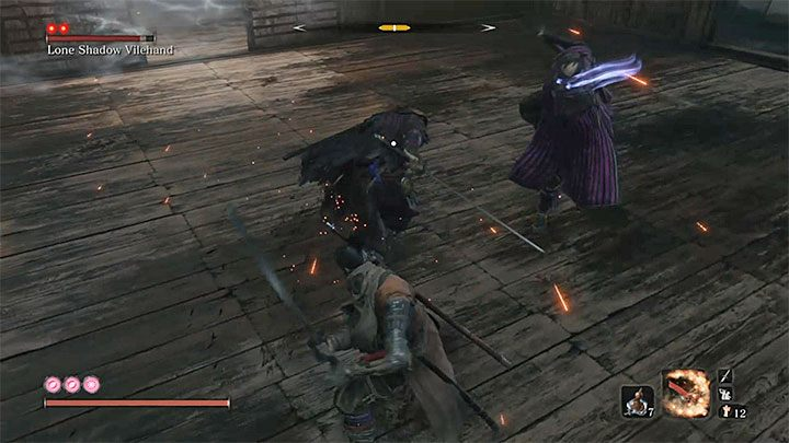 The opponent who is under the influence of mind control begins to fight on the side of the hero - Lonely Shadow Vilehand   Sekiro Shadows Die Twice Boss Fight - Bosses - Sekiro Guide and Walkthrough