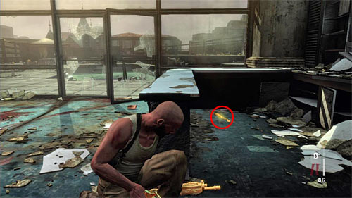 SECRET 8 [Golden Gun - FMP G3S Rifle 2/3]: Behind the counter, in the room next to the empty swimming pool - Clues and Golden Guns - Chapter XII - Collectibles - Max Payne 3 - Game Guide and Walkthrough