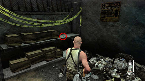 SECRET 11 [Clue 6/6 - Donation Receipt]: In small armory from which Max took C4 charges - Clues and Golden Guns - Chapter XII - Collectibles - Max Payne 3 - Game Guide and Walkthrough