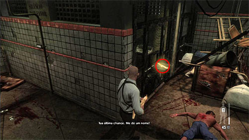 SECRET 1 [Golden Gun - MPK SMG 1/3]: Nearby the entrance to the jail, on the left - Clues and Golden Guns - Chapter XIII - Collectibles - Max Payne 3 - Game Guide and Walkthrough