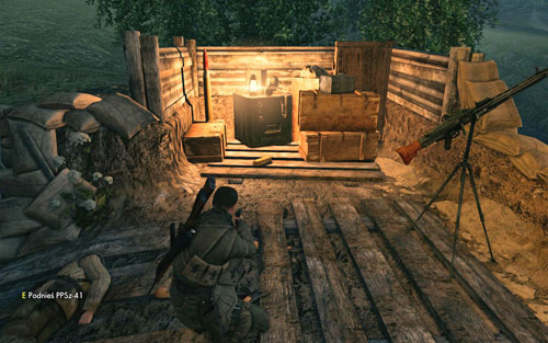 By the crates in the last machine gun post [#6] (rightmost on the map) - Mission 9   Wine Bottles and Gold Bars - Wine Bottles and Gold Bars - Sniper Elite V2 Game Guide & Walkthrough