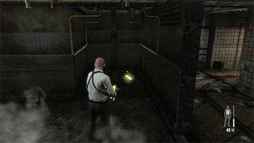 SECRET 2 [Golden Gun - LAW 1/3]: In jail, in the room with showers - Clues and Golden Guns - Chapter XIII - Collectibles - Max Payne 3 - Game Guide and Walkthrough