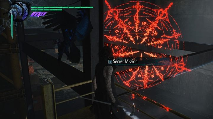 When you reach the warehouse, you will come across a scaffolding after some time, which clearly blocks the passage - Secret mission 04 walkthrough for Devil May Cry 5 - Secret missions - Devil May Cry 5 Guide