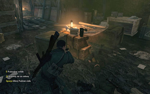 Beside the crates in the room inside the bunkers, where the officer was [#8] - Mission 9   Wine Bottles and Gold Bars - Wine Bottles and Gold Bars - Sniper Elite V2 Game Guide & Walkthrough