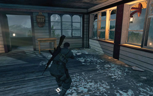 In the corner [#10], on the upper floor of the rocket control building, where you have to defend yourself while waiting for the fuel tank to be filled - Mission 9   Wine Bottles and Gold Bars - Wine Bottles and Gold Bars - Sniper Elite V2 Game Guide & Walkthrough